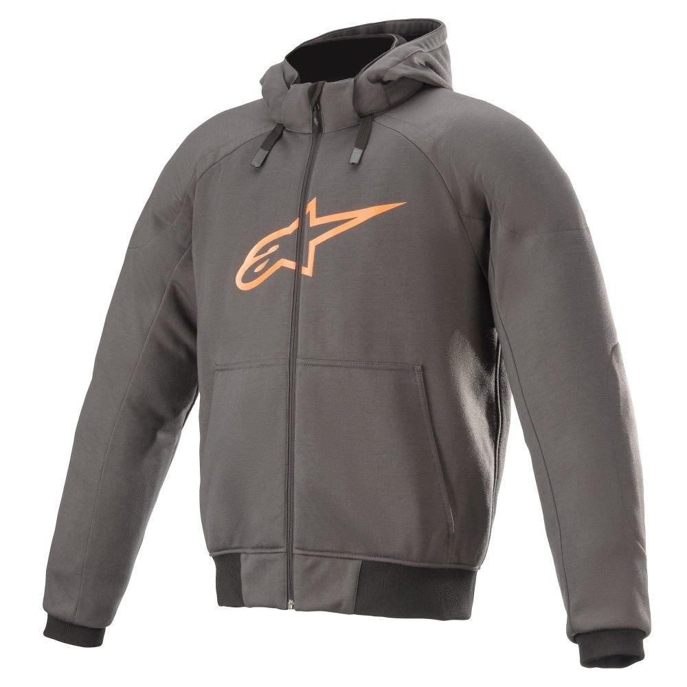 Alpinestars Chrome Sport Hoodie Tar Grey Flame Orange Size: S