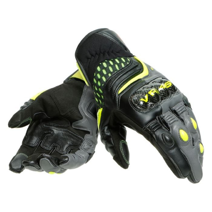 Dainese VR46 Sector Short Gloves Black Anthracite Fluo-Yellow MENS - M