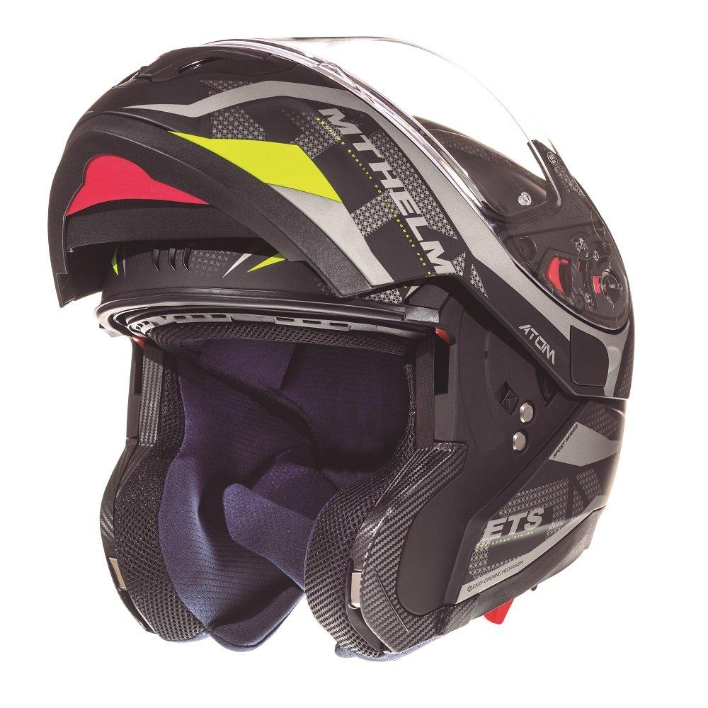 Atom Divergence Helmet Matt Grey Fluo Motorcycle Helmets