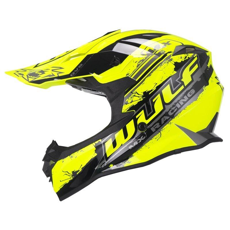 Adult Off Road Pro Helmet Yellow Wulfsport