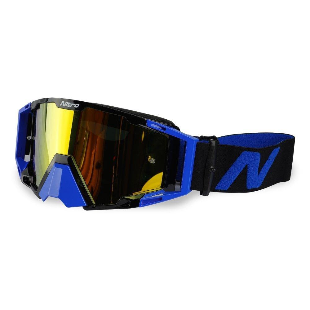 NV-100 Goggles Blue Motocross Goggles