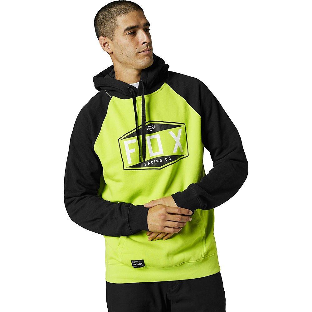 Fox Emblem Raglan PO Fleece Flo Yellow Mens - S