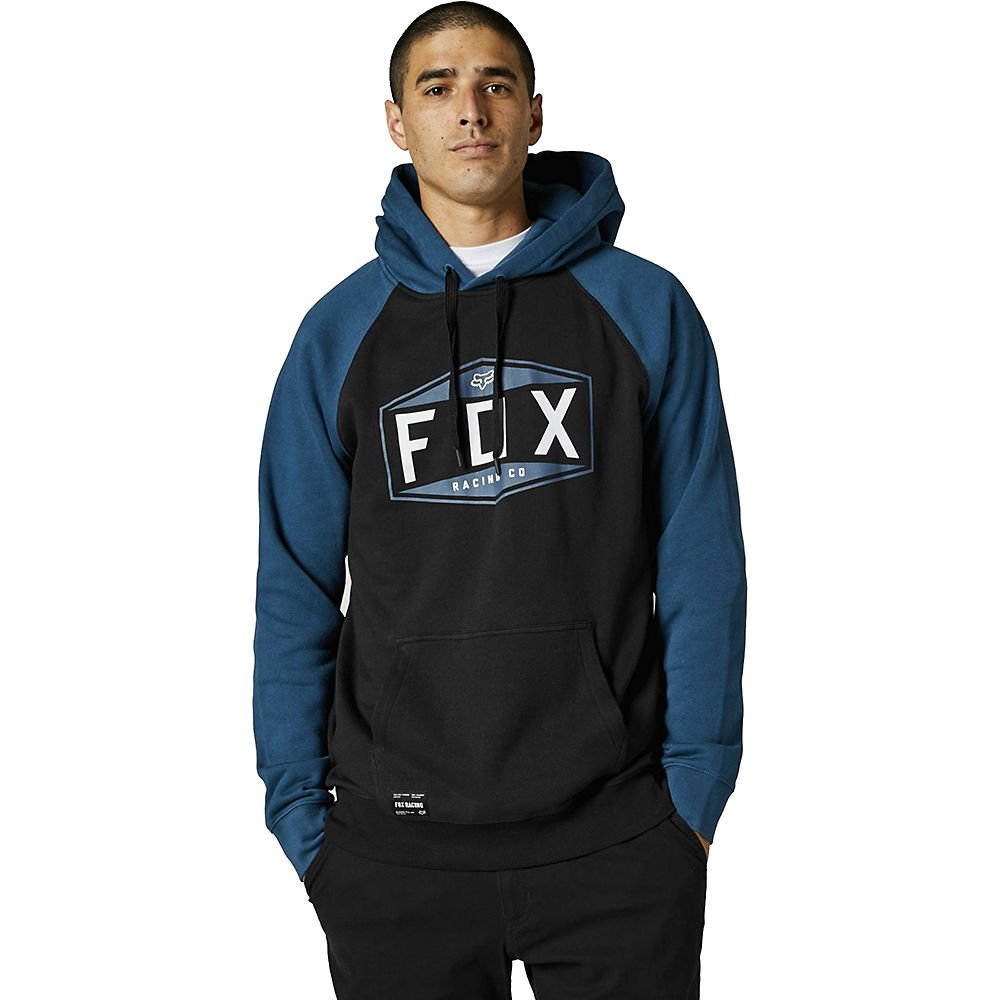 Fox Emblem Raglan PO Fleece Dark Indigo Mens - M