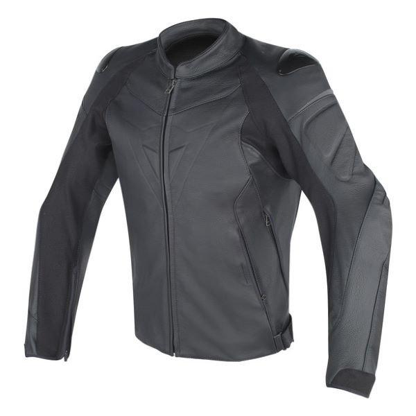 Dainese Fighter Leather Jacket Black Black