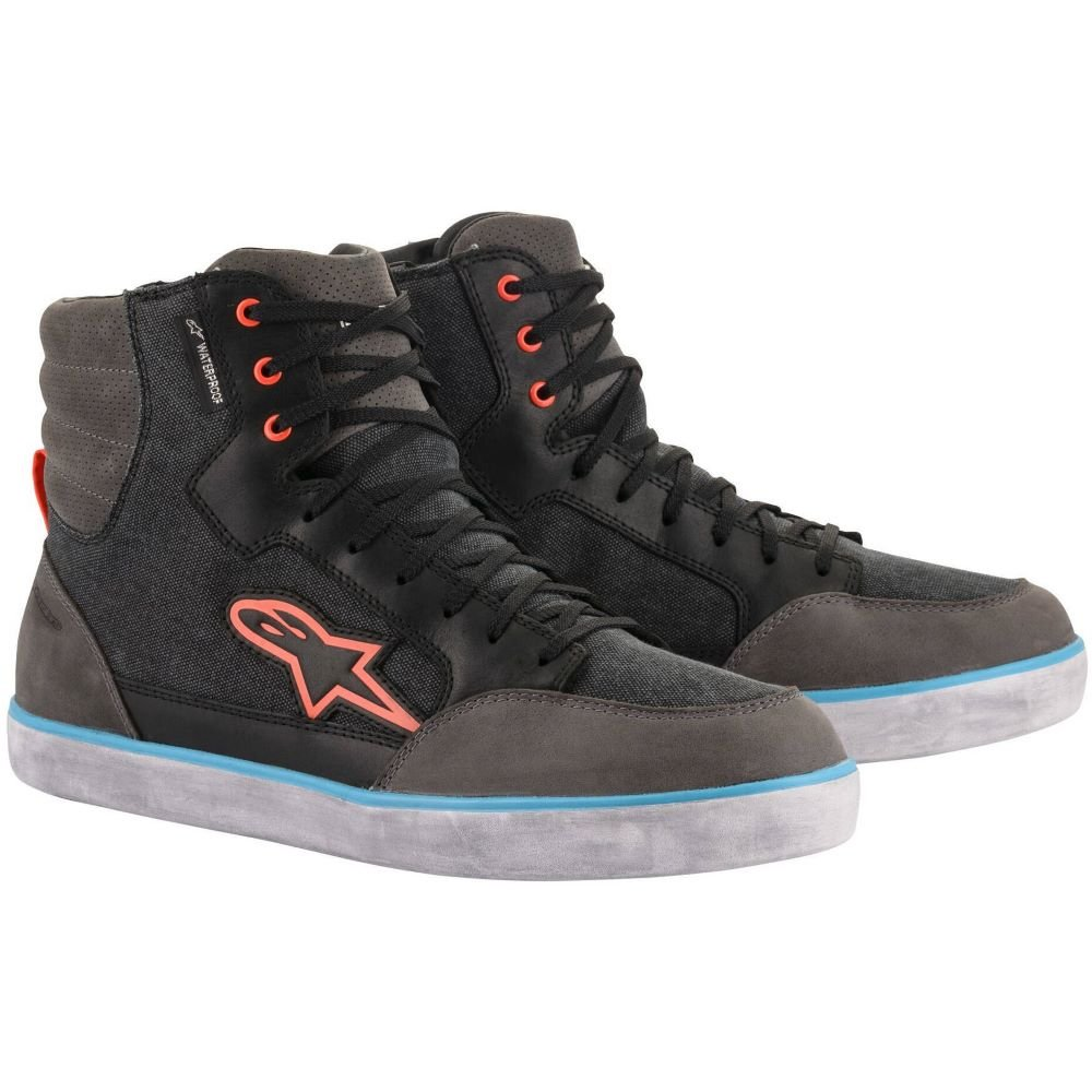 Alpinestars J-6 Waterproof Shoes Black Anthracite Light Blue UK 5