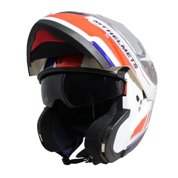 Atom SV Raceline Helmet White Red Blue Motorcycle Helmets