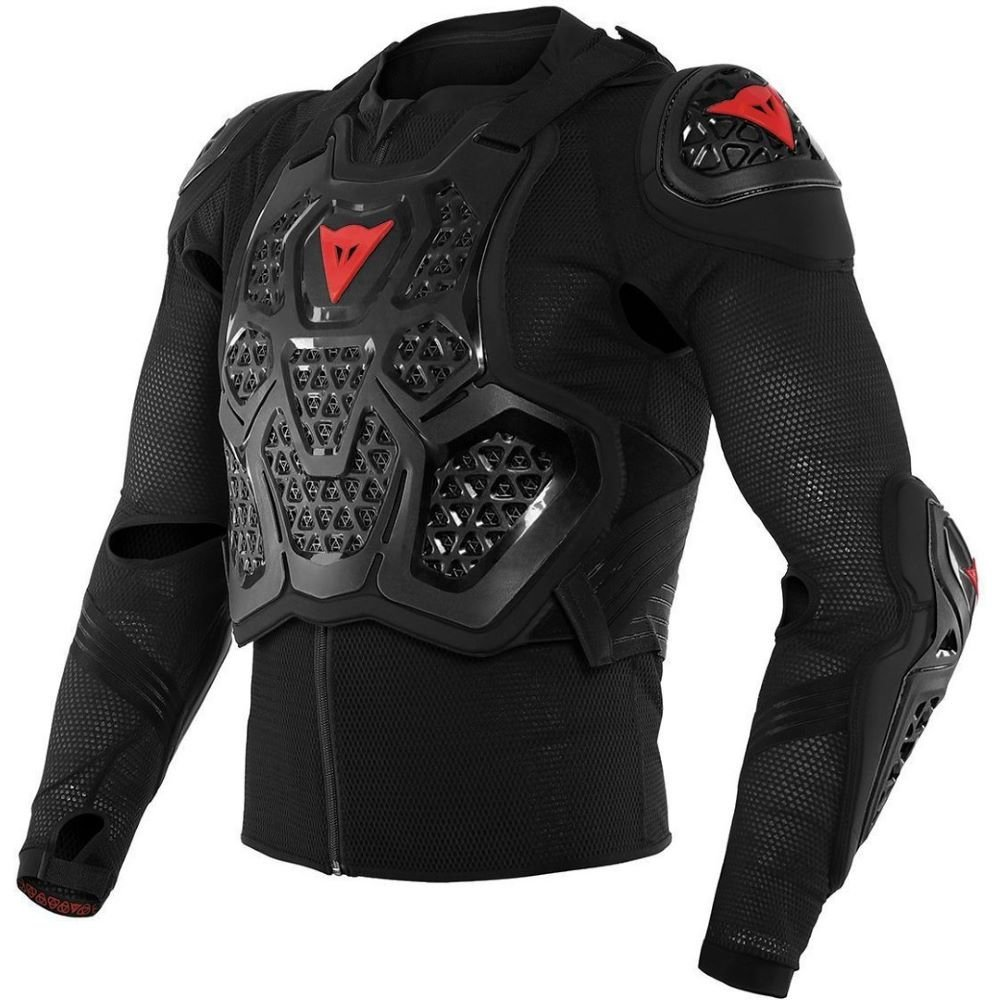 MX 2 Safety Jacket Black Motocross Armour