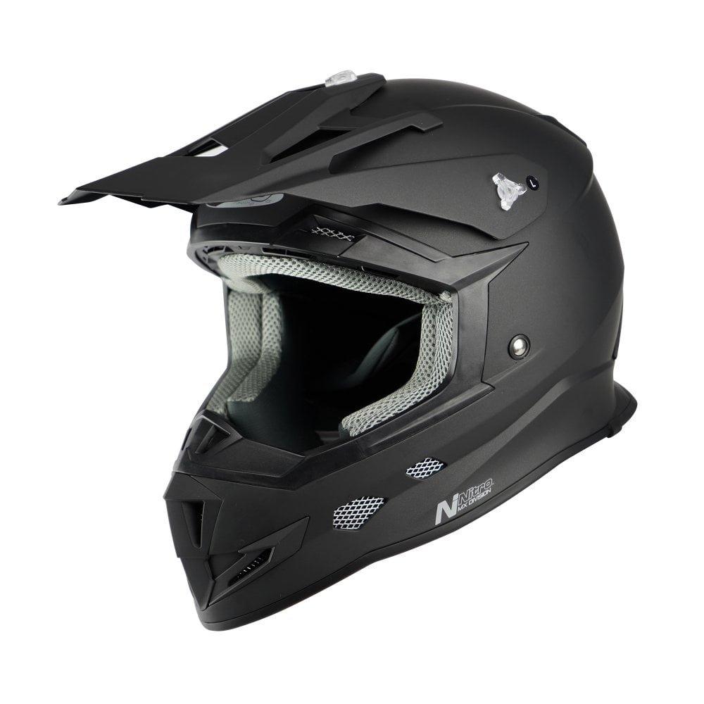 MX700 Junior Helmet Satin Black Motocross