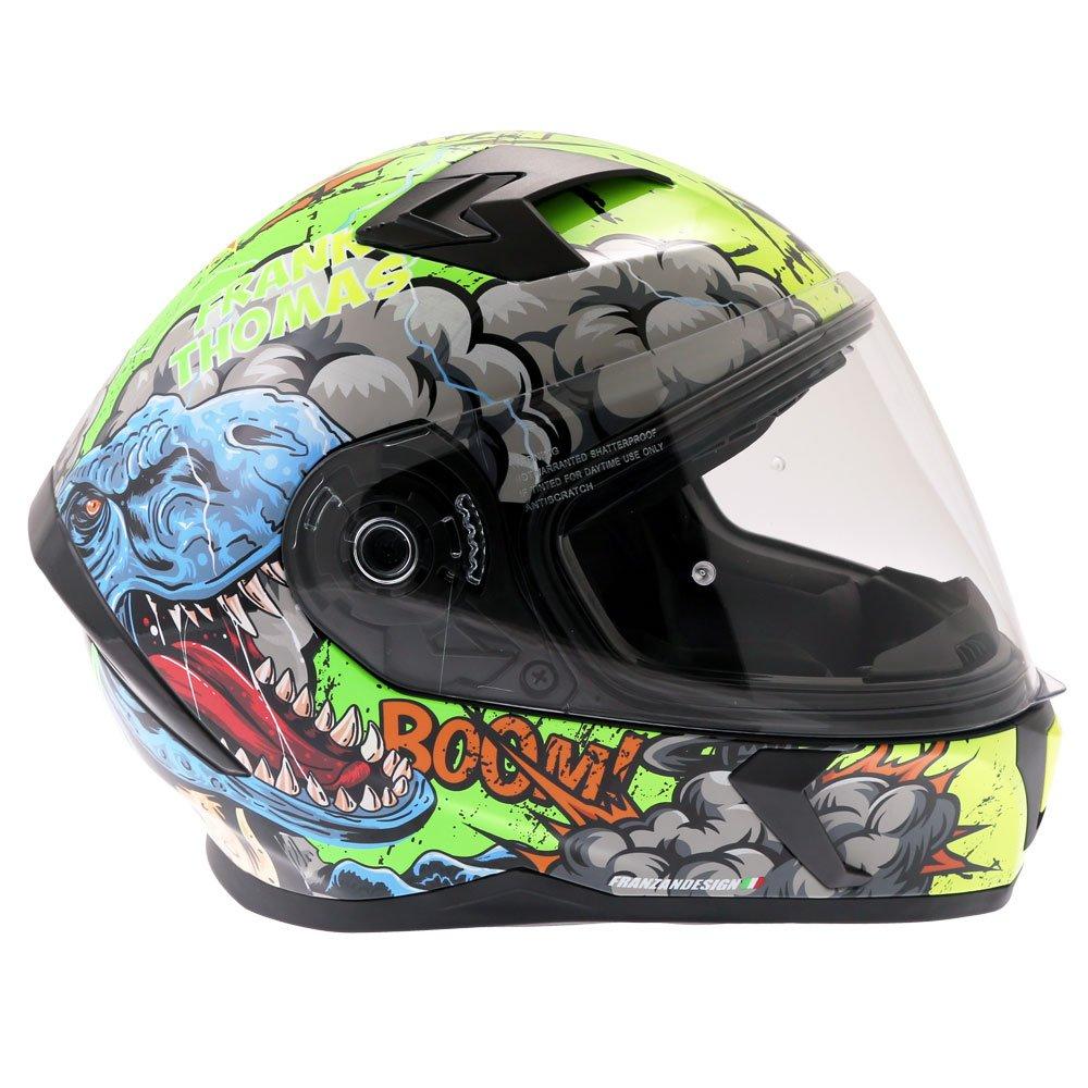 Frank Thomas FT39SV Raptor Helmet Yellow Default Title