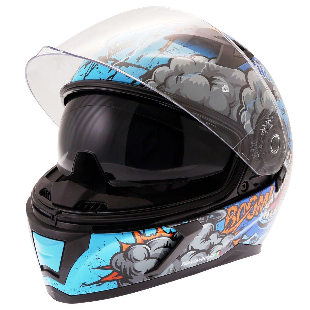 Frank Thomas FT39SV Raptor Helmet Blue XS (54 cm)