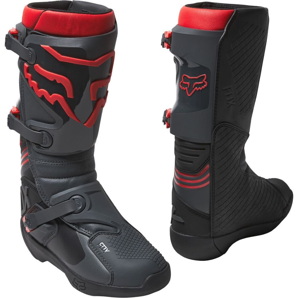 Comp Boots Black Red Motocross Boots
