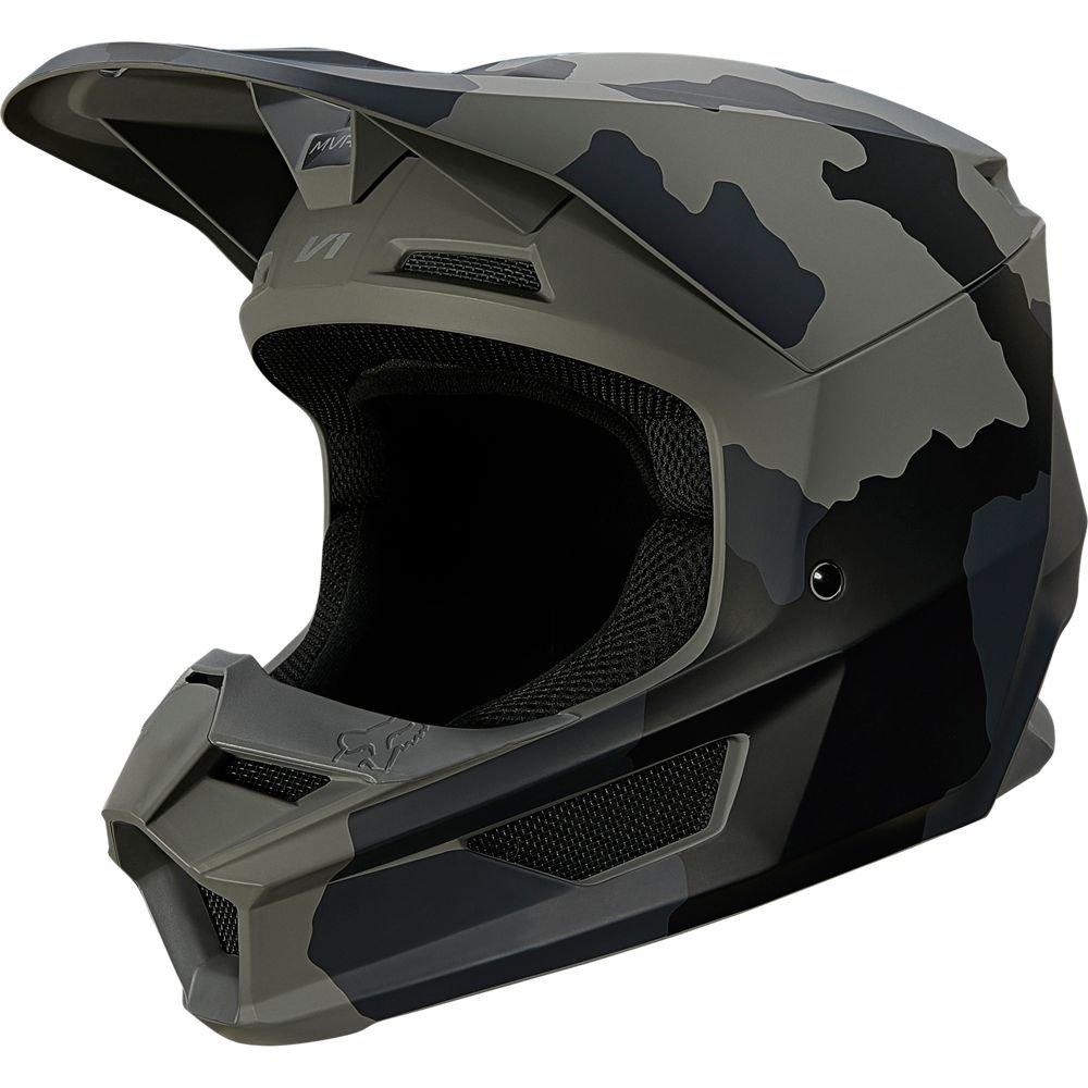 Youth V1 Trev Helmet Black Camo Kids Motocross Helmets