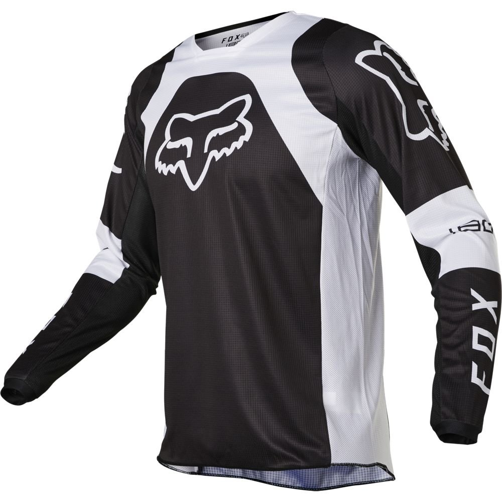 Fox 180 Lux Jersey Black White Default Title