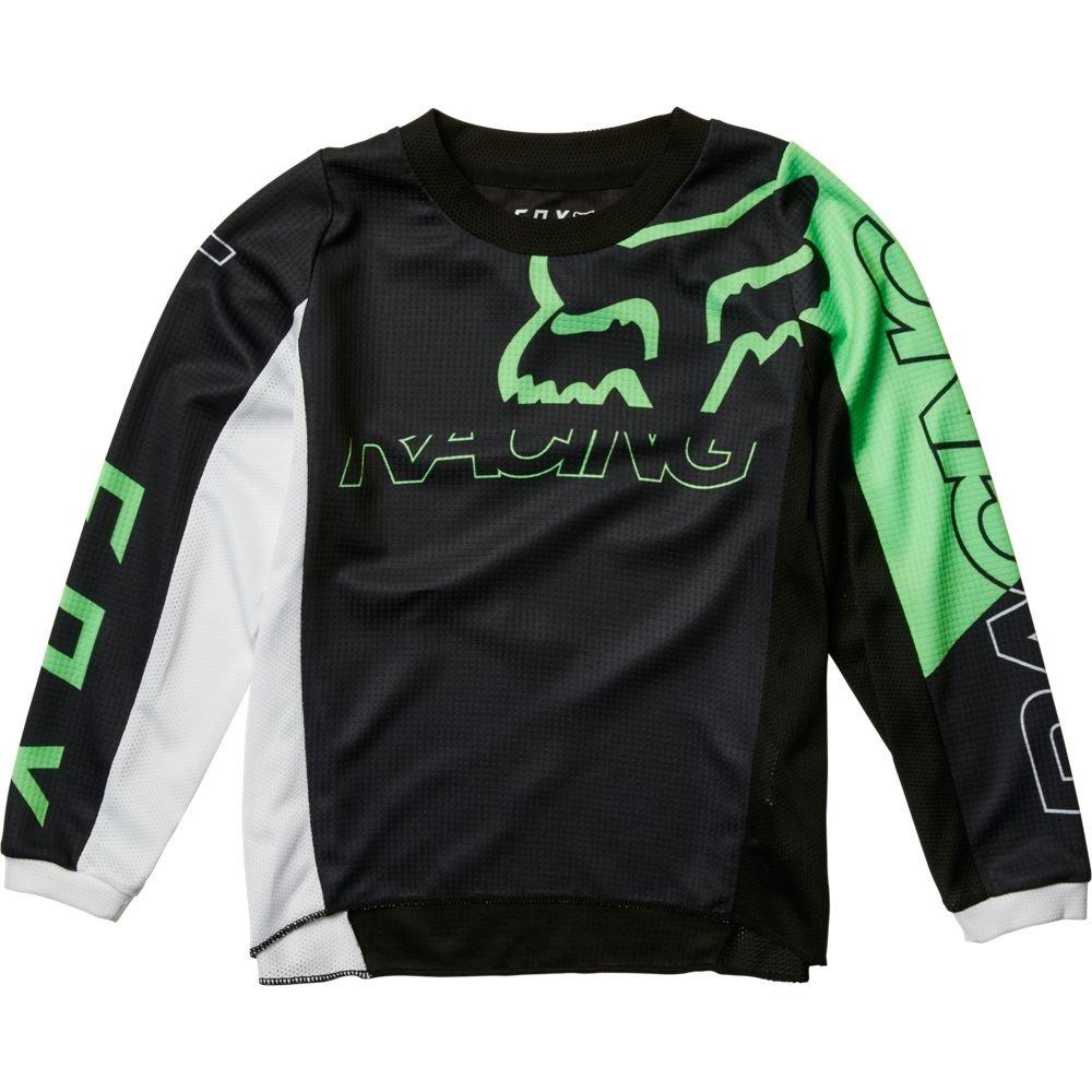 Kids Skew Jersey Black Green Kids Motocross Gear