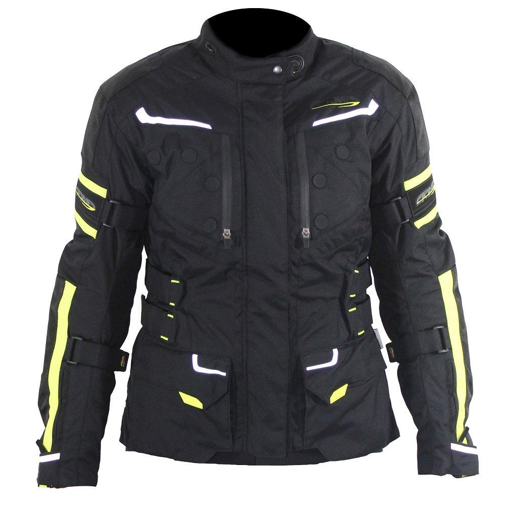 Kumaji 2 Ladies Jacket Black Flo Yellow ARMR Clothing