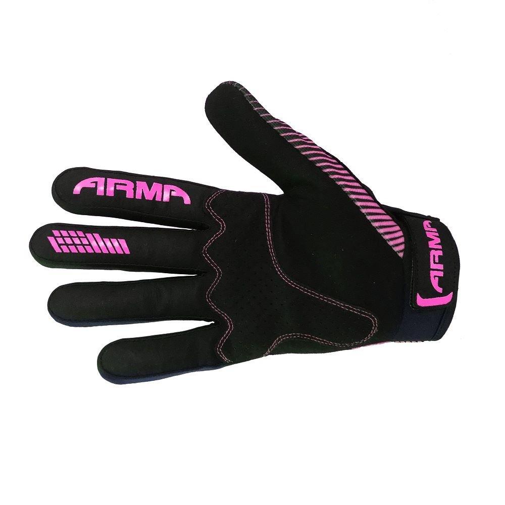 Armr KMX8 Kid MX Gloves Black Pink Kids - 3XS