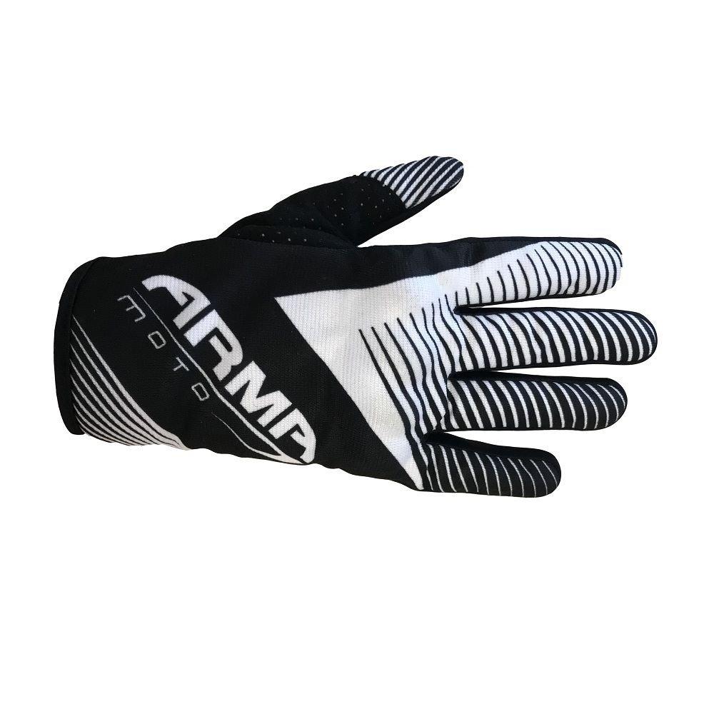 Armr MX8 MX Gloves Black White Default Title