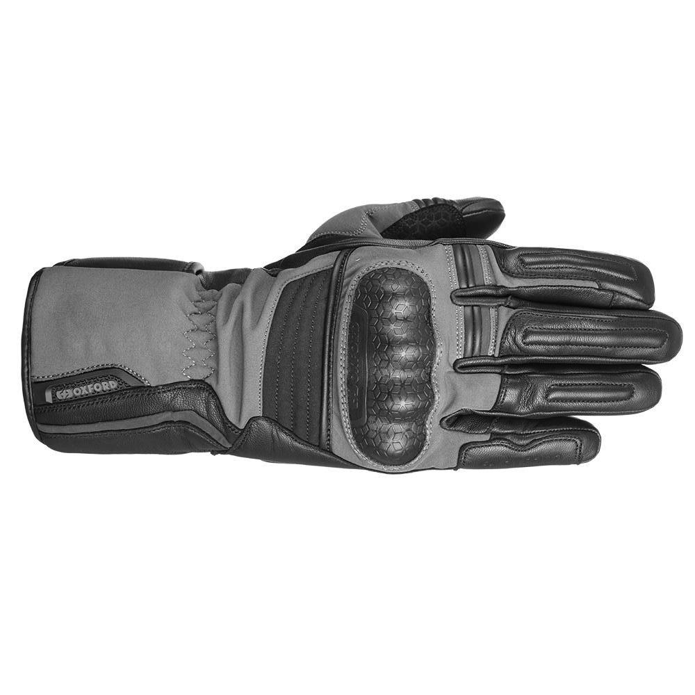Hexham Gloves Grey Black Oxford Gloves