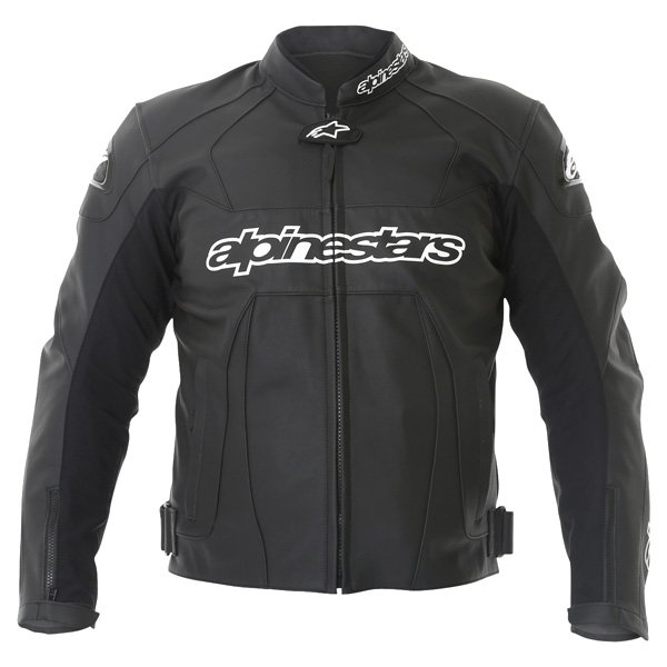 Alpinestars Gp Plus Black Leather Motorcycle Jacket Front