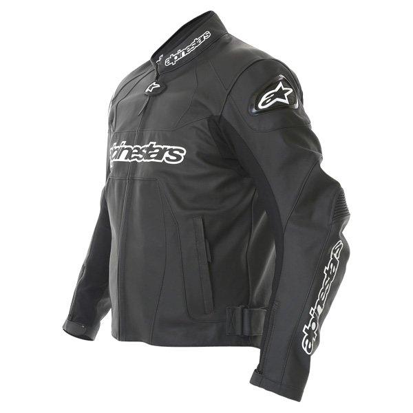 Alpinestars Gp Plus Black Leather Motorcycle Jacket Side