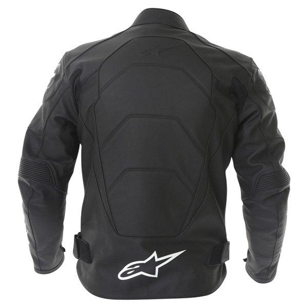 Alpinestars Gp Plus Black Leather Motorcycle Jacket Back