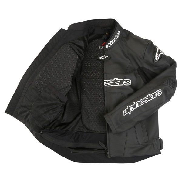 Alpinestars Gp Plus Black Leather Motorcycle Jacket Inside