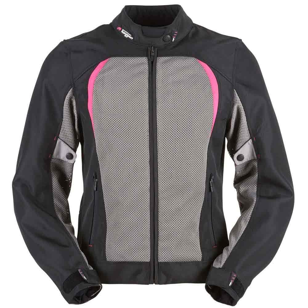 Genesis Mistral Ldy Evo Jacket Black Pink Furygan Ladies