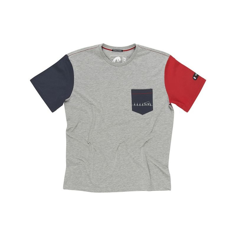 TS Heartbeat Grey Blue Red Clothing