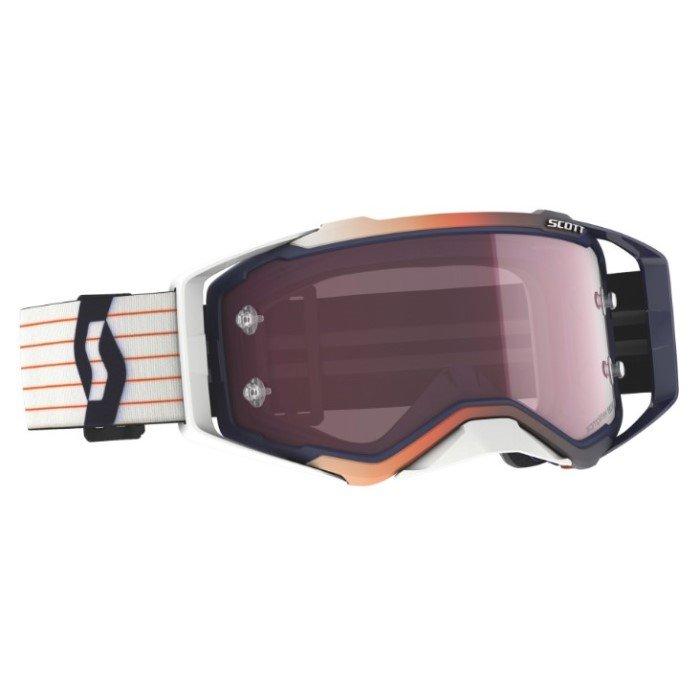 Prospect Amplifier Goggles Blue White Rose Works Motocross Goggles