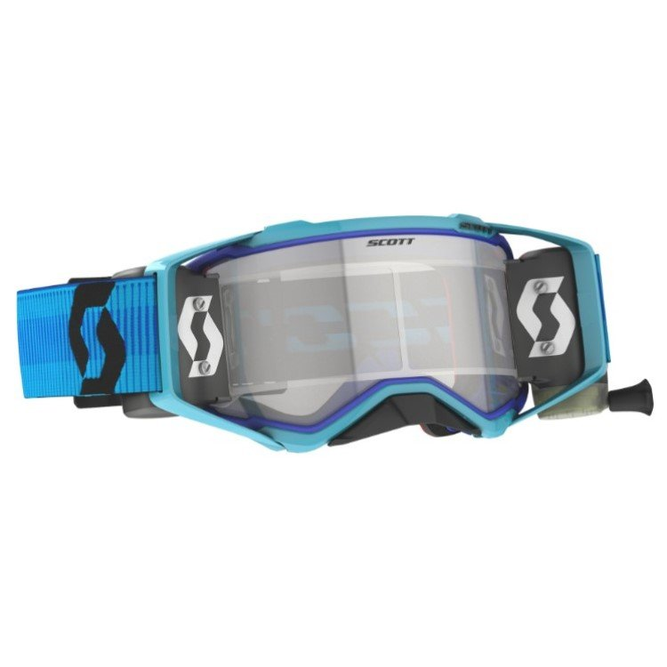 Prospect Goggles WFS Blue Black Clear Works Motocross Goggles