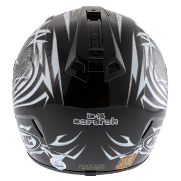 HJC IS-16 Scratch Black Full Face Motorcycle Helmet Back