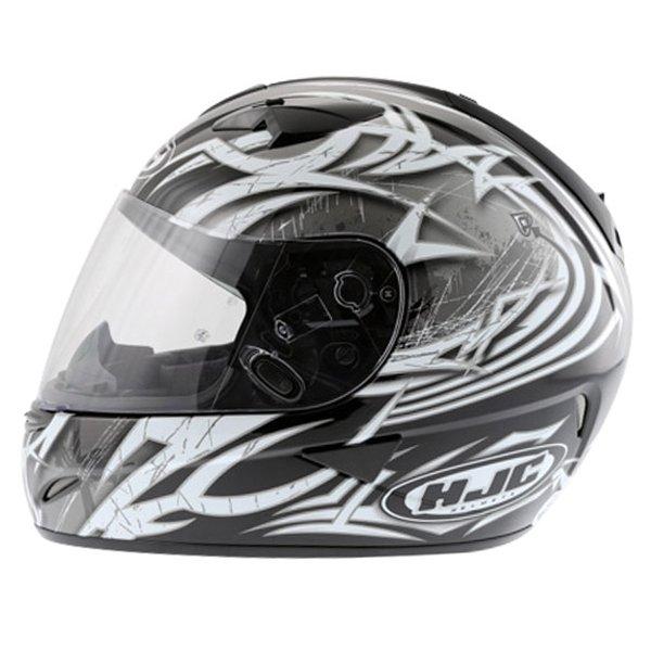 HJC IS-16 Scratch Black Full Face Motorcycle Helmet Left Side