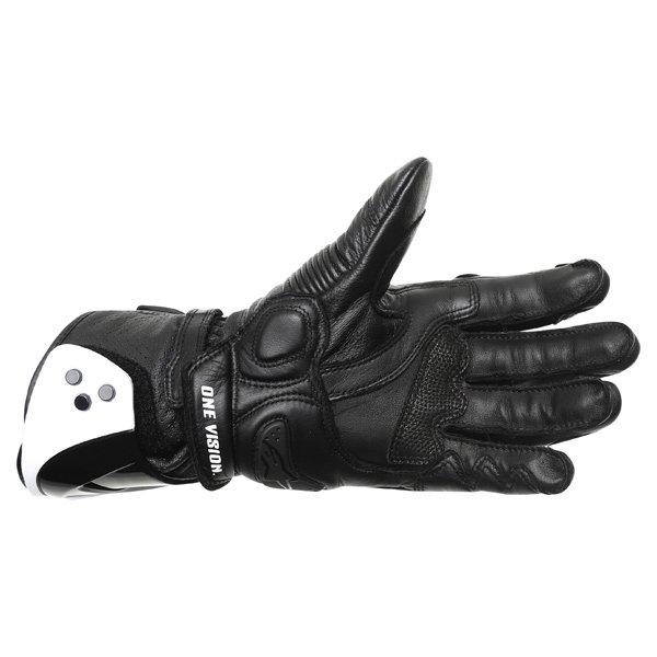 Alpinestars GP Pro Black Motorcycle Gloves Palm