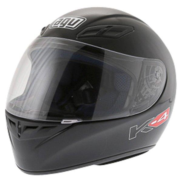 AGV K4 Black Full Face Motorcycle Helmet Front Left