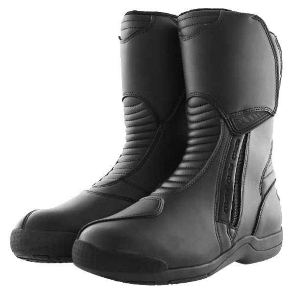 Alpinestars Alpha Touring Black Waterproof Motorcycle Boots Pair