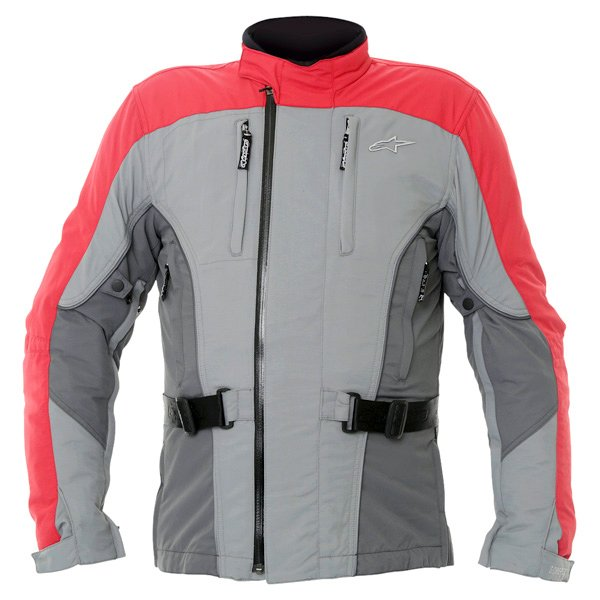 Alpinestars Rk-5 Mens Grey Red Goretex Waterproof Textile Motorcycle Jacket Front