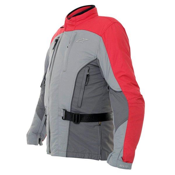 Alpinestars Rk-5 Mens Grey Red Goretex Waterproof Textile Motorcycle Jacket Side