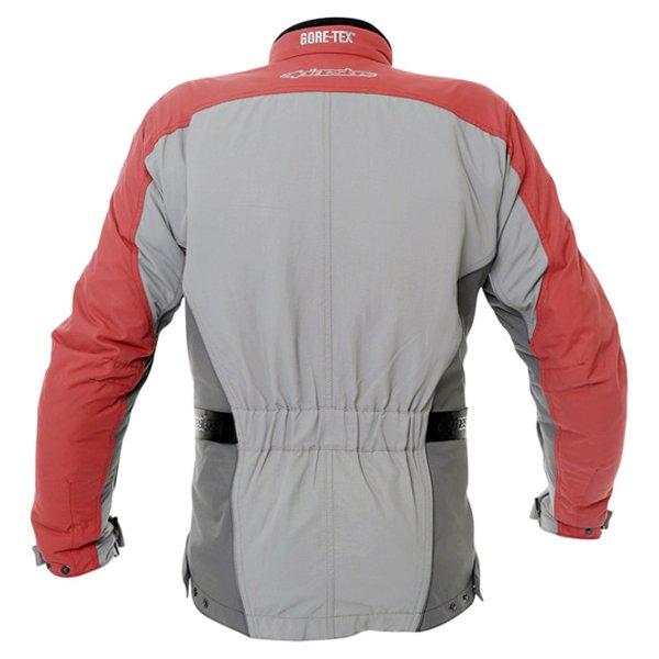 Alpinestars Rk-5 Mens Grey Red Goretex Waterproof Textile Motorcycle Jacket Back
