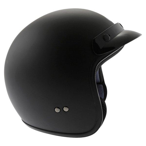 Box JX-2 Matt Black Open Face Motorcycle Helmet Right Side