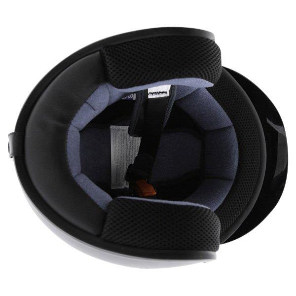 Box JX-2 Matt Black Open Face Motorcycle Helmet Inside