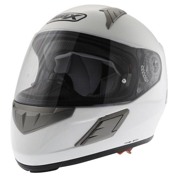 Box BZ-1 White Full Face Motorcycle Helmet Front Left