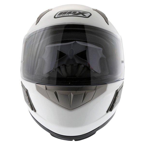 Box BZ-1 White Full Face Motorcycle Helmet Front