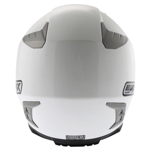 Box BZ-1 White Full Face Motorcycle Helmet Back