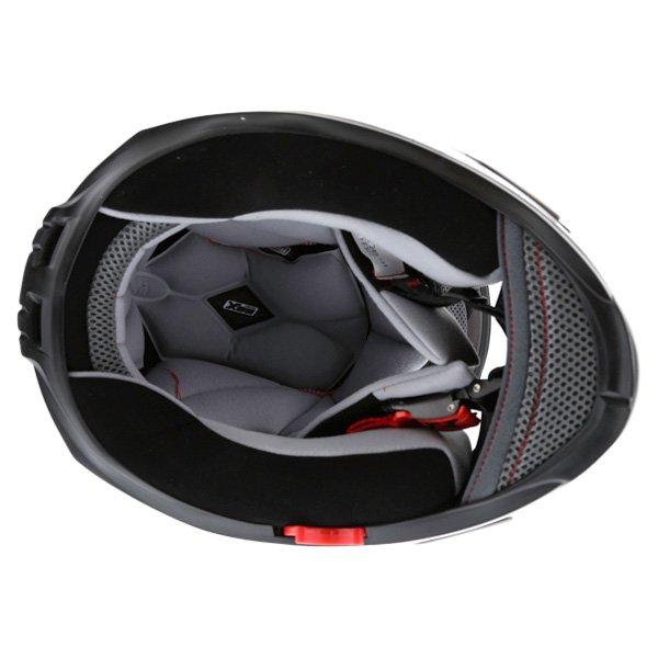 Box BZ-1 White Full Face Motorcycle Helmet Inside