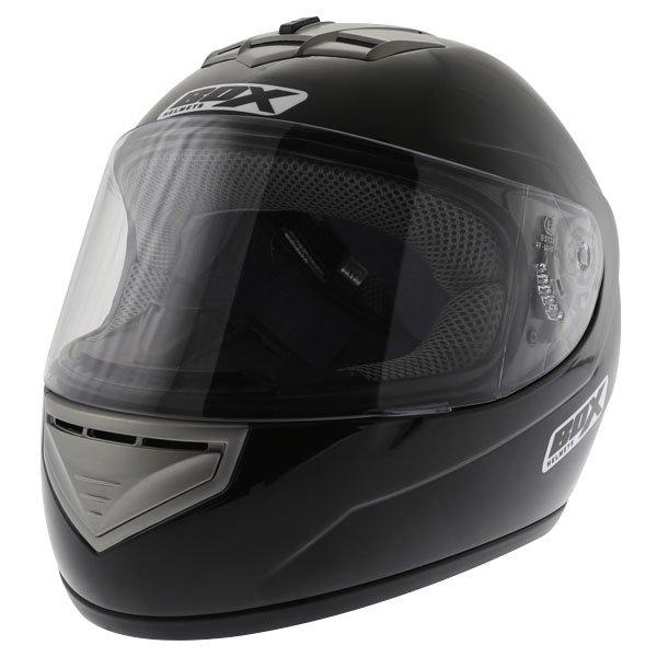 Box BX-1 Black Full Face Motorcycle Helmet Front Left