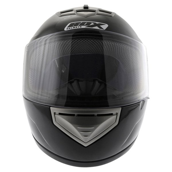 Box BX-1 Black Full Face Motorcycle Helmet Front