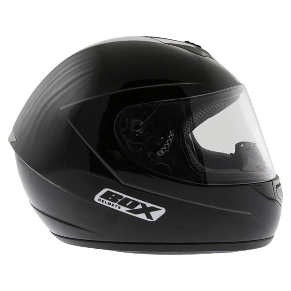 Box BX-1 Black Full Face Motorcycle Helmet Right Side