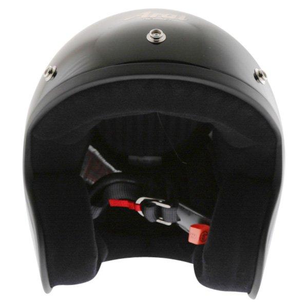 Arai Freeway 2 Black Open Face Motorcycle Helmet Front