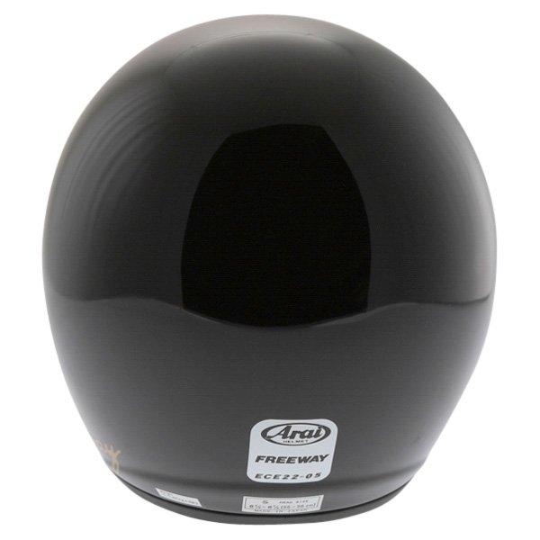 Arai Freeway 2 Black Open Face Motorcycle Helmet Back