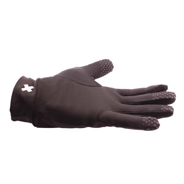 Frank Thomas Black Inner Gloves Little Finger Side